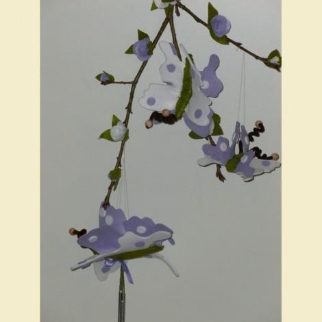 Farfalle Lilla E Bianche
