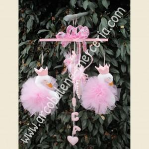 516 Cigni rosa in tulle