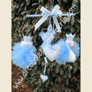 517 Cigni azzurri in tulle