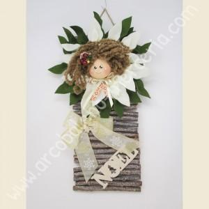 Bambolina Stella di Natale panna