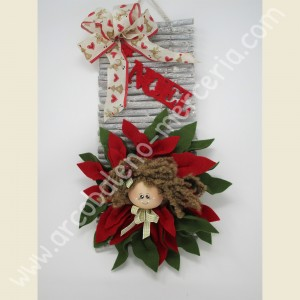 554 Bambolina stella di Natale rossa