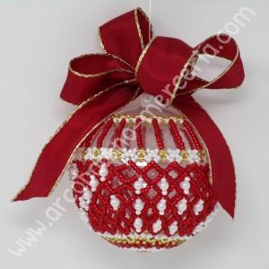 547 Pallina di Natale rete rossa