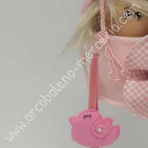 Mongolfiera con tubolare rosa