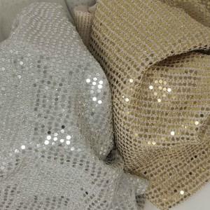 Tessuto in maglia elastica con MICRO paillettes