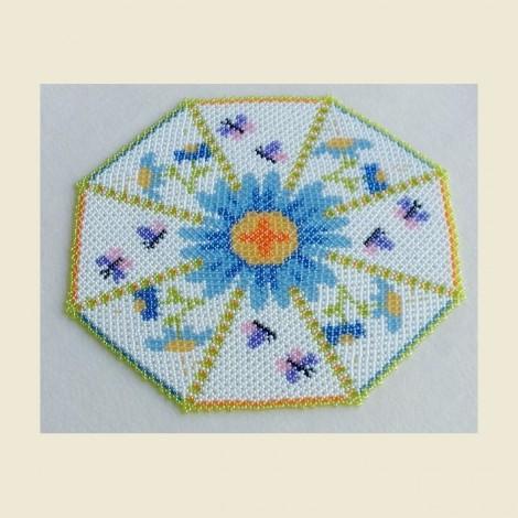 363 Centrino Fiori e Farfalle